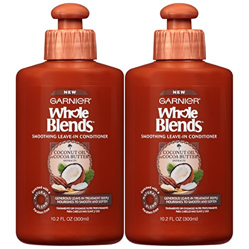 Garnier Hair Care Whole Blends Leave-In Conditioner With Coconut Oil & Cocoa Butter Extracts, 2 Count