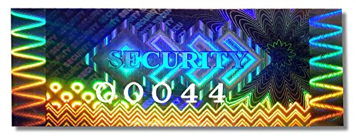 48x HIGH Security KINETIC Hologram NUMBERED Stickers, 2