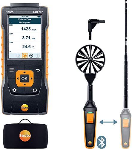 Testo 0563 4409, 440 Delta P Air Flow ComboKit 1 with Bluetooth, Extendable Telescope, 1 Kit
