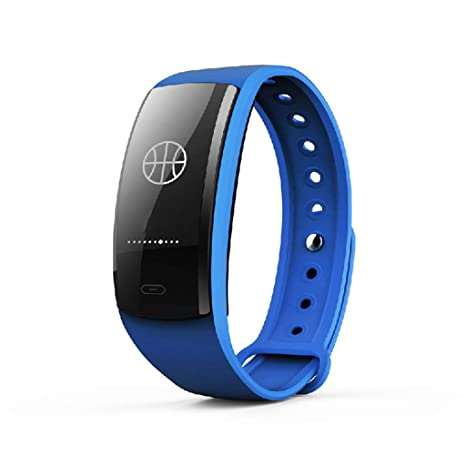 W&H Reloj Inteligente con Pantalla OLED de 0.96 Pulgadas, Bluetooth 4.0, Compatible con Android