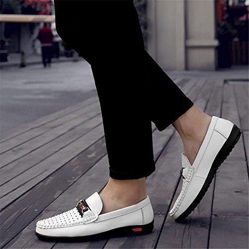 Comfort Un Zapatos y Hombre Otoño Conducción Ons Zapatos de Oficina Primavera de Mocasines Ahuecados Cuero Slip wZvAXq0B