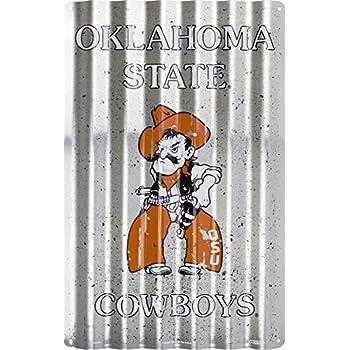 863e4cc20f9f Amazon.com  HangTime Oklahoma Sooners 18 x 12 Corrugated Sign  Home ...