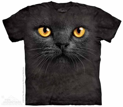 The Mountain Black Cat Face T-shirt