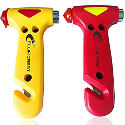 Car Safety Hammer, Window Breaker and Seatbelt Cutter. Pack of 2. from cridy6n