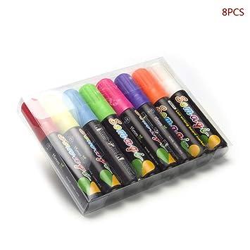 Marcadores de tiza líquida Vivitoch de 8 colores borrables ...