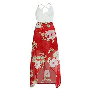 b762003e8f Amazon.com  Ladies Sexy Tube Top Lace Splice Dress