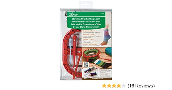 Amazon Clover Standing Oval Knitting Loom One Size