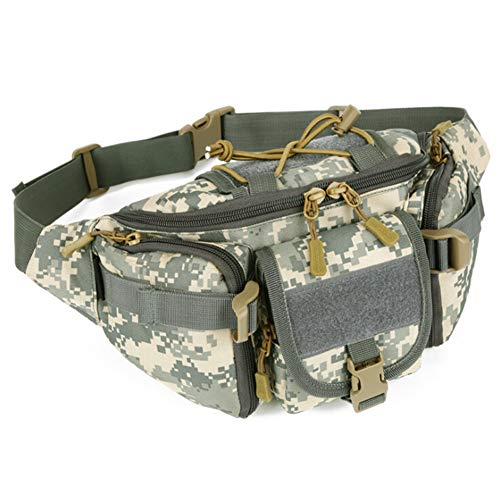 Mountain Outdoor Duffel Products (VCGREE Water Resistant Tactical Waist Pack Portable Military Outdoor Travel Army Hip Belt Bag Pouches Fanny Pack for Fishing Hunting Camping Hiking Bumbag (ACU))