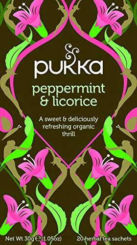 Pukka Peppermint & Licorice Herbal Tea 20 Count