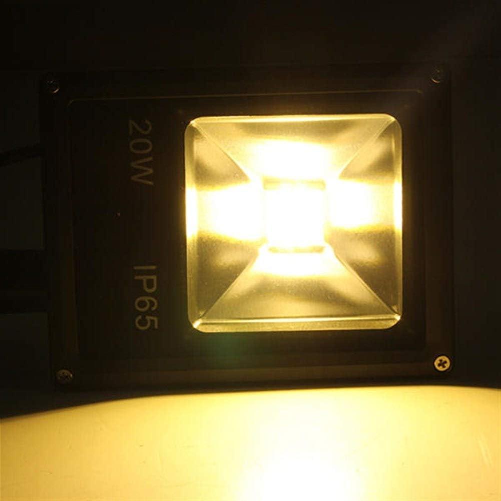Color : Warm White LPLCUICAN LED Bulbs 20W PIR Motion Sensor LED Flood Light IP65 Warm Cold White Lighting
