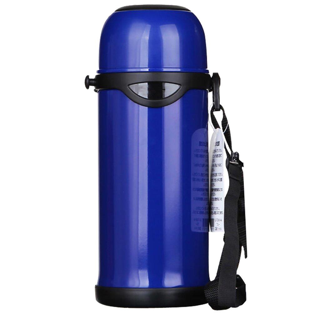 KLWJ スポーツ ボトル,高容量 800 Ml 鋼の水ボトル,ジュース ボトル漏れ防止実行屋外キャンプの水ボトル - 青ジム ヨガ  A B07C3MH2MZ