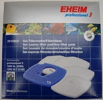 Eheim - Juego 3 Filtros Profesionales de Goma de Carbón para Pecera 2616802 - 1200 XL/XLT: Amazon.es: Productos para mascotas