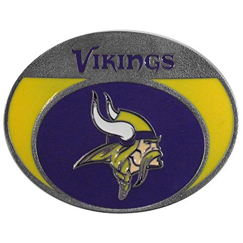 MINNESOTA VIKINGS NFL ENAMELED BELT BUCKLE by Siskiyou Gifts Co, Inc.