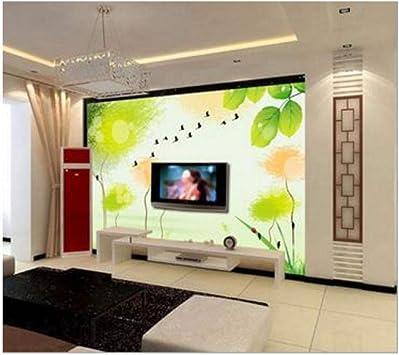 papel pintado En primavera los árboles grandes murales La sala de ...
