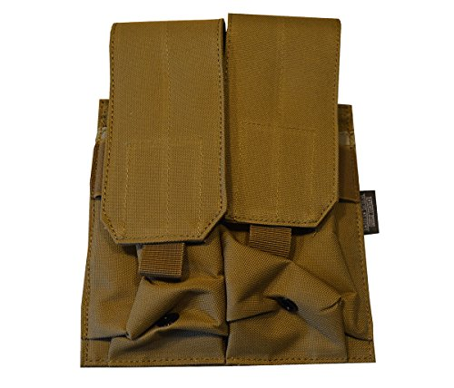 (American Tactical Supply Co. STANAG Tactical Double Magazine Pouch, 4 Magazine Capacity, Desert Tan)