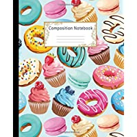 Composition Notebook: Wide Ruled Lined Paper Notebook Journal: Pretty Colorful Donuts Workbook for Girls Kids Teens Students for Back to School and Home College Writing Notes