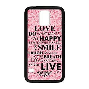 Live Laugh Love Happy Smile Love Quote Custom Laser Technology Print Images Samsung Galaxy S5 TPU Case
