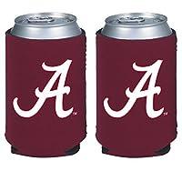 NCAA College 2014 Team Logo Color Can Kaddy Holder Cooler 2-Pack (Alabama Crimson Tide)