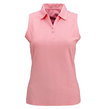 2a63103f71c46 Image Unavailable. Image not available for. Color  Nancy Lopez Golf Women  Grace Sleeveless Golf Polo (Plus Size)
