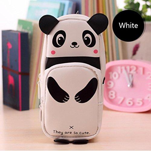 LtrottedJ Cute Kawaii 3D Panda Pencil Case Large Capacity School Supplies Novelty Item For Kids