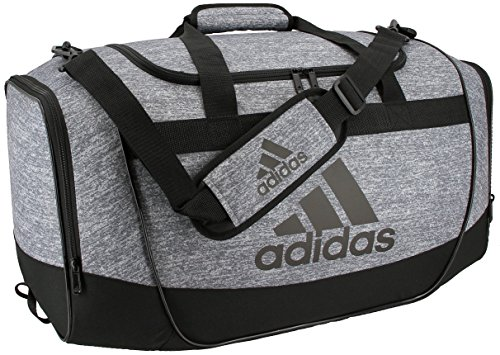 adidas Defender II Medium Duffel Bag, Medium, Jersey Onix/Black/Light Onix