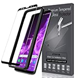 LK Screen Protector for Samsung Galaxy S9, Tempered Glass [Case Friendly][Alignment Frame Easy Installation][3D Curved][Full Coverage] with Lifetime Replacement Warranty