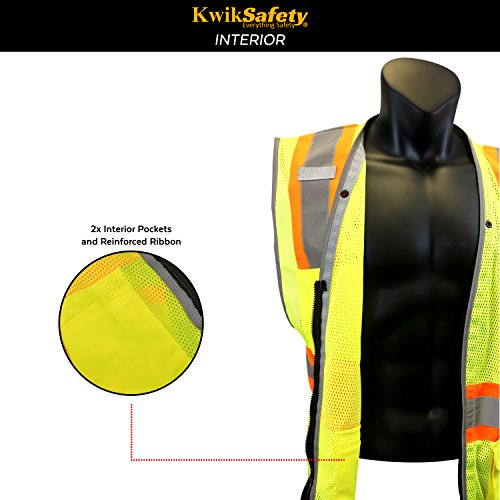 KwikSafety PILOT | Drone Safety Vest | Class 2 ANSI Compliant FAA Licensed | 360° High Visibility Reflective UAG Work Wear | Hi Vis Certified Commercial Pilot Men & Women Regular to Oversized | XL by KwikSafety (Image #4)