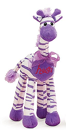 Sweetheart Hugs Striped Giraffe Lavender Valentine Plush