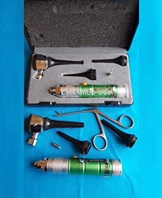 ENT FIBER OPTIC Otoscope Diagnostic Set Veterinary Pet Kit +1 ALLIGATOR + 1 B