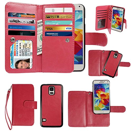 Detachable Cell Phone Wallet Case For Samsung Galaxy S5