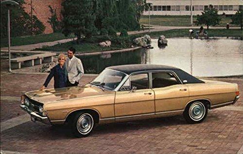 (1968 Torino Four Door Sedan Cars Original Vintage Postcard)