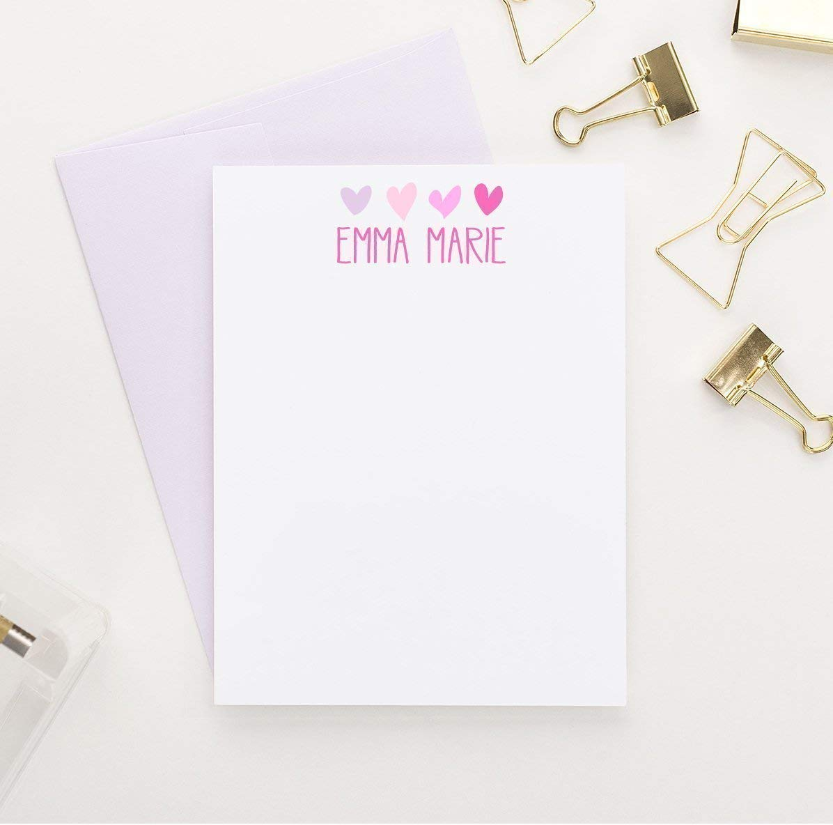 Personalized Stationery for Girls, Girls Personalized Stationery Set