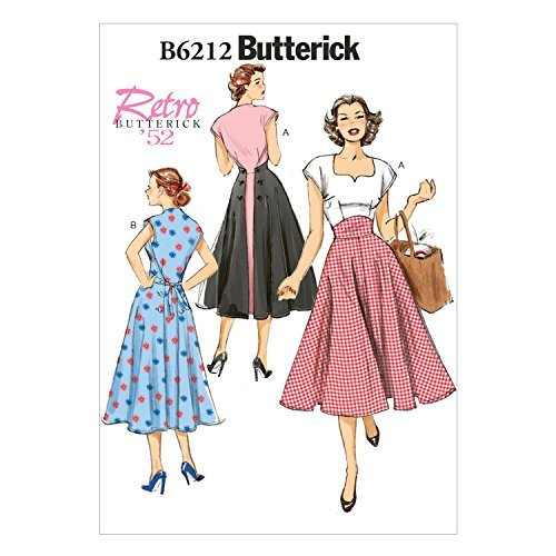 1950s Sewing Patterns | Dresses, Skirts, Tops, Mens Butterick Patterns 6212 E5 Sizes 14/16/18/20/22 Misses Dress by Butterick Patterns  AT vintagedancer.com