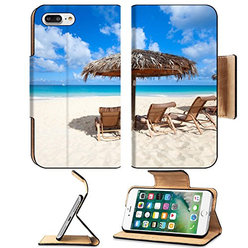 Msd Premium Apple Iphone 7 Plus Flip Pu Leather Wallet Case Image Id 19987076 Chairs And Umbrella On A Beautiful Tropical Beach At Anguilla Caribbean