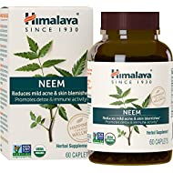 Himalaya Organic Neem 60 Caplets for Mild Acne & Healthy Skin 600mg