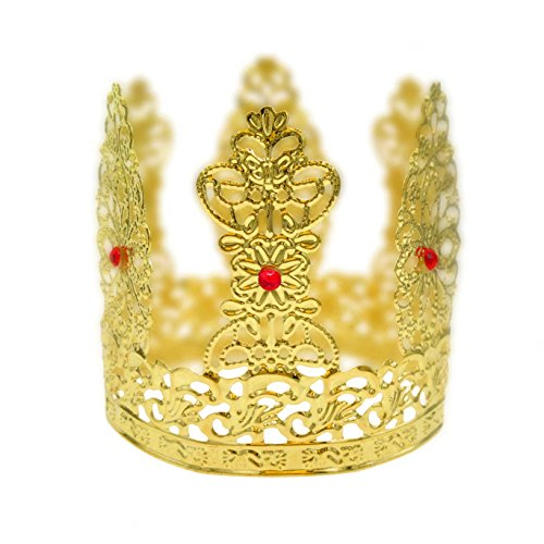 Diy Crown Royal Costume (Round Mini Crown Princess Bridal Wedding Party Baby Rhinestone Cake Decoration)