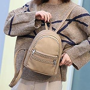 Minshao zaino donna antifurto elegante Zaino da viaggio per zaino da viaggio retro da viaggio in pelle per laptop