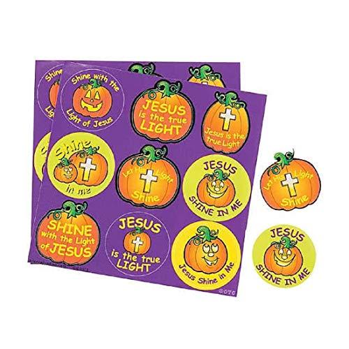 450 Christian Pumpkin Treat Stickers