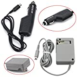 HDE Portable Power Adapter Kit for Nintendo 3DS NDSi Gaming Consoles- AC Wall Home Plug + Car Travel Charger