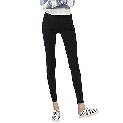 d110c910e2b Jegging Des Femmes Etirer Pantalon Leggings Crayon Collants Pantalon  Leggings Tissu en denim imitation
