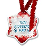 Christmas Ornament Dog & Cat Dad Thai Ridgeback, red - Neonblond