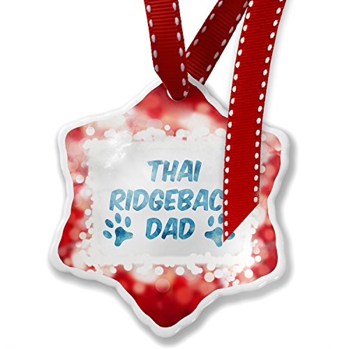 Christmas Ornament Dog & Cat Dad Thai Ridgeback, red - Neonblond by NEONBLOND
