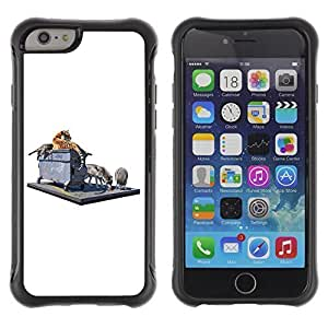 Hybrid Anti-Shock Defend Case for Apple iPhone 6 4.7 Inch / Tiger & Wolf On The Street