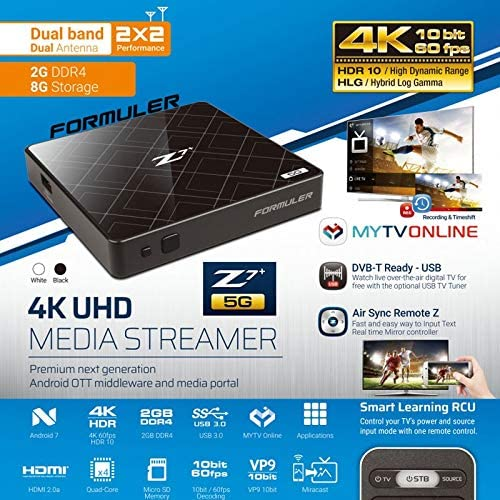 Formuler Z7 Plus 5g Dual Band Android Wifi Ott 4k Box Elektronik