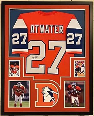 Framed Steve Atwater Autographed Signed Denver Broncos Jersey Jsa Coa