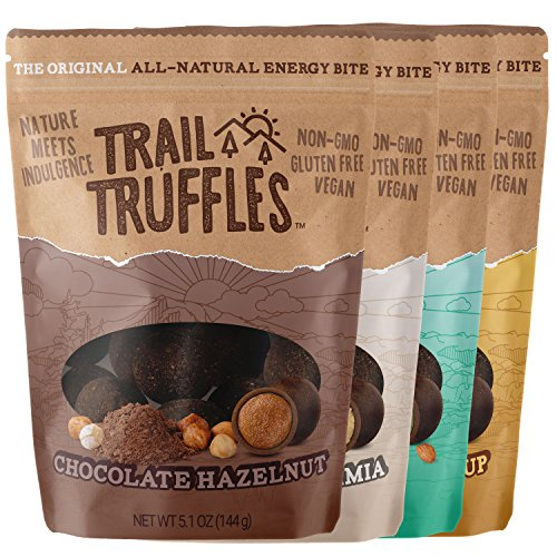 Truffles Dark Make Chocolate (Gluten Free Healthy Camping and Backpacking Food Paleo Snacks Pack - Vegan Health Food Snacks Made from Superfood Ingredients (Assorted Flavors, 4 packs))