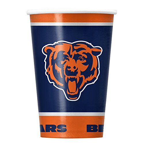 NFL Chicago Bears Disposable Paper Cups, Pack of 20 -