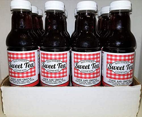 Sweet Tea by the Southern Sweet Tea Company Real brewed Tea No Acids, No Additives, No Colors (CASE OF 12) 16oz bottles
