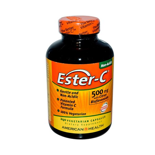 New - American Health Ester-C with Citrus Bioflavonoids - 500 mg - 240 Vegetarian Capsules by Bioflavonoids