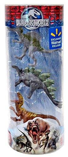 "Jurassic World Dinos Spinosaurus, Stegosaurus & Velociraptor Exclusive 3"" Mini Figure 3-Pack"